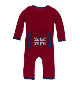 Kickee Pants Applique Coverall with Snaps Union Jack