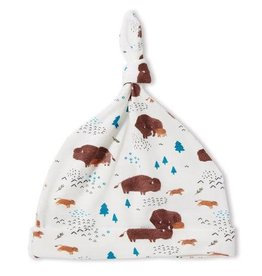 Angel Dear Knotted Hat - Bison / Buffalo 0-3m