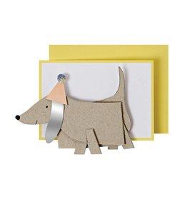 Meri Meri Sausage Dog Enclosure Card