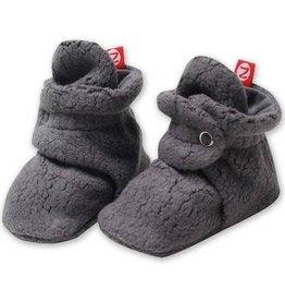 Zutano Cozie Fleece Bootie - Gray