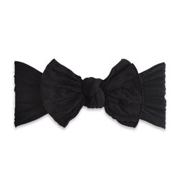 Baby Bling Bows Cable Knit Knot - Black