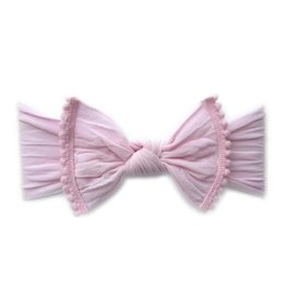 Baby Bling Bows Trimmed Classic Knot (Pink Pom)