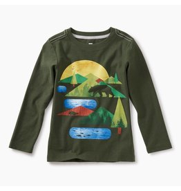 Tea Collection Great Lakes Graphic Tee - Spruce