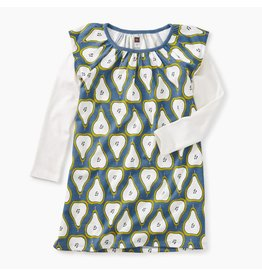 Tea Collection Printed Layered Flutter Dress - Peck of Pears