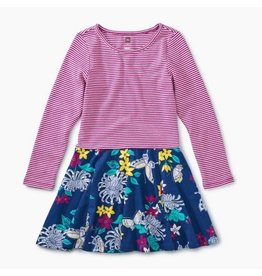 Tea Collection Skirted Dress - Blooms and Butterflies 3