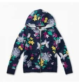 Tea Collection Blooms and Butterflies Zip Up 6T