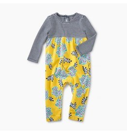 Tea Collection Two-Tone Romper - Asian Floral 0-3M