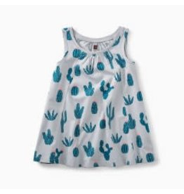 Tea Collection Trapeze Baby Dress - Prickly Cactii 6-9M