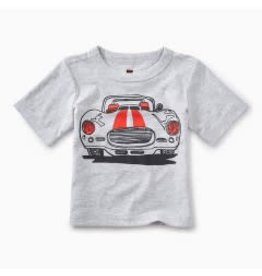 Tea Collection Muscle Car Graphic Baby Tee Light Grey Heather 6-9M