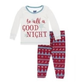 Kickee Pants Kickee Pants Long Sleeve Pajama Set: Nordic Print
