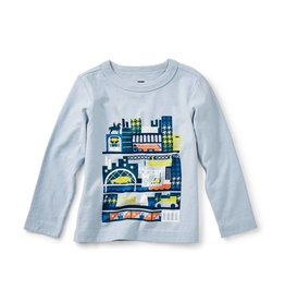 Tea Collection Glasgow Tour Graphic Baby Tee 6-9M