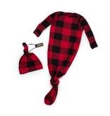 Milk Snob Knotted Hat + Gown Set - Lumberjack 0-3M