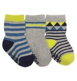 Robeez Geometric Socks 3 pack 12-24M