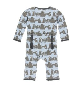 Kickee Pants Print Coverall with Snaps London Dogs 12-18M