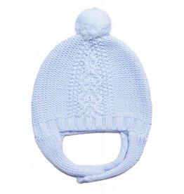 Angel Dear Cable Knit Pilot Hat Light Blue