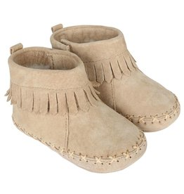 Robeez Cozy Ankle Moccasin Taupe 0-6M