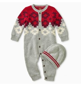 Tea Collection Tularosa Geo Sweater Romper & Hat Set