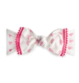 Baby Bling Bows Trimmed Printed Knot (Baby Love)