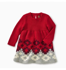 Tea Collection Tularosa Geo Sweater Dress - China Red