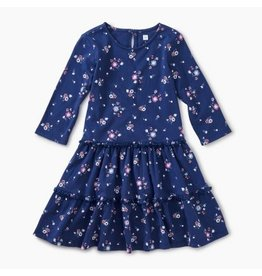 Tea Collection Tiered Winter Dress - Winter Blooms