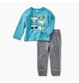 Tea Collection Critters Baby Outfit - Bondi Blue