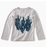 Tea Collection Roaming Buffalo Graphic Tee - Vapor