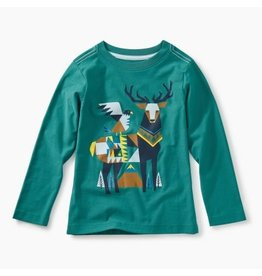 Tea Collection Scandi Stag Graphic Tee - Bonsai