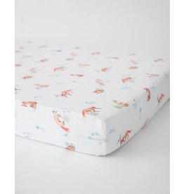 Little Unicorn Cotton Muslin Crib Sheet - Fox