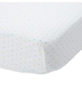 Little Unicorn Cotton Muslin Crib Sheet - Green Dot