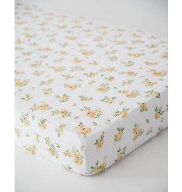 Little Unicorn Cotton Muslin Crib Sheet - Yellow Rose