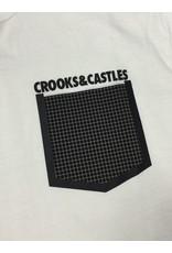 CROOKS & CASTLES WHITE STONEWALL POCKET TEE
