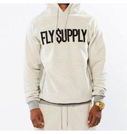 FLY SUPPLY GREY FLY DOLLAR HOODIE
