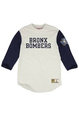 Mitchell & Ness NEW YORK YANKEES BRONX BOMBER MLB EXTRA OUT 3/4 SLEEVE