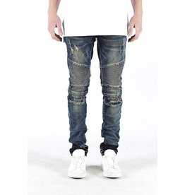 EMBELLISH TREVOR BIKER DENIM