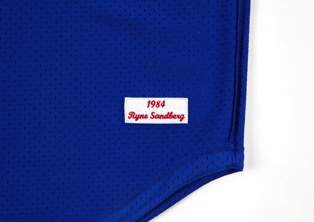 Mitchell & Ness CHICAGO CUBS RYNE SANDBERG 1984 AUTHENTIC MESH BP JERSEY