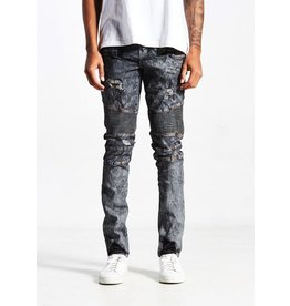EMBELLISH CRIMSON BIKER DENIM