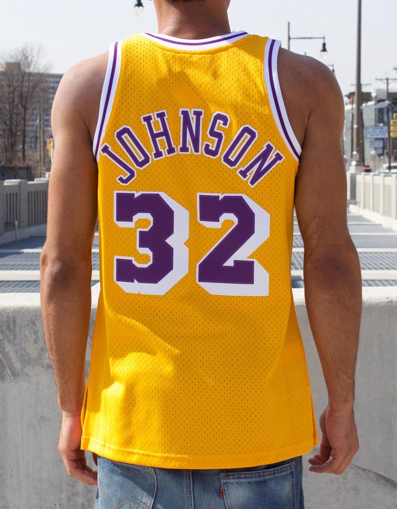 Mitchell & Ness LOS ANGELES LAKERS SWINGMAN JERSEY - MAGIC JOHNSON #32
