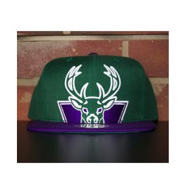 Mitchell & Ness MILWAUKEE BUCKS CROPPED XL LOGO SNAPBACK