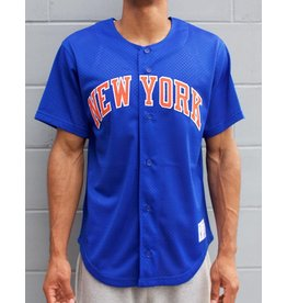 Mitchell & Ness ROYAL BLUE NEW YORK KNICKS NBA MESH BUTTON FRONT