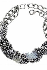 Pam Hiran Triple Braid Statement Necklace