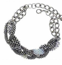 Pam Hiran Triple Braid Statement Necklace