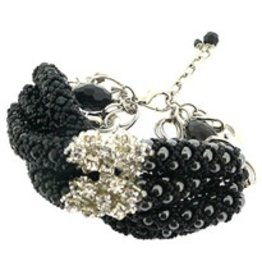 Pam Hiran Onyx Cylinder Bracelet