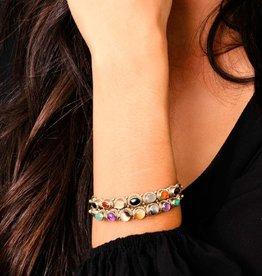 Natalie B Isa Multi Stone Cuff