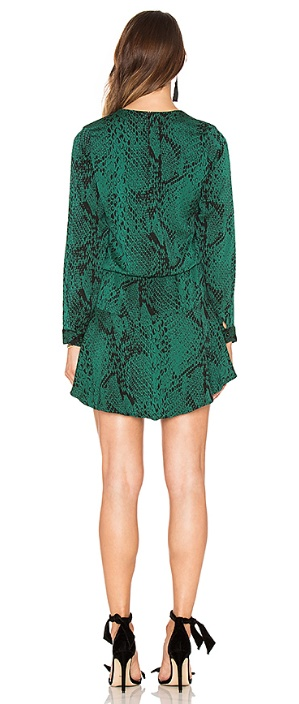 Karina Grimaldi Jackie Print Mini Dress, Verde Snake, M