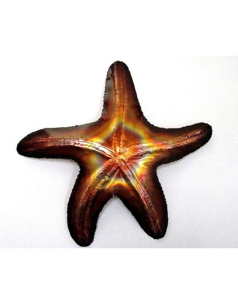 """Copper Starfish Lge 12"""""""