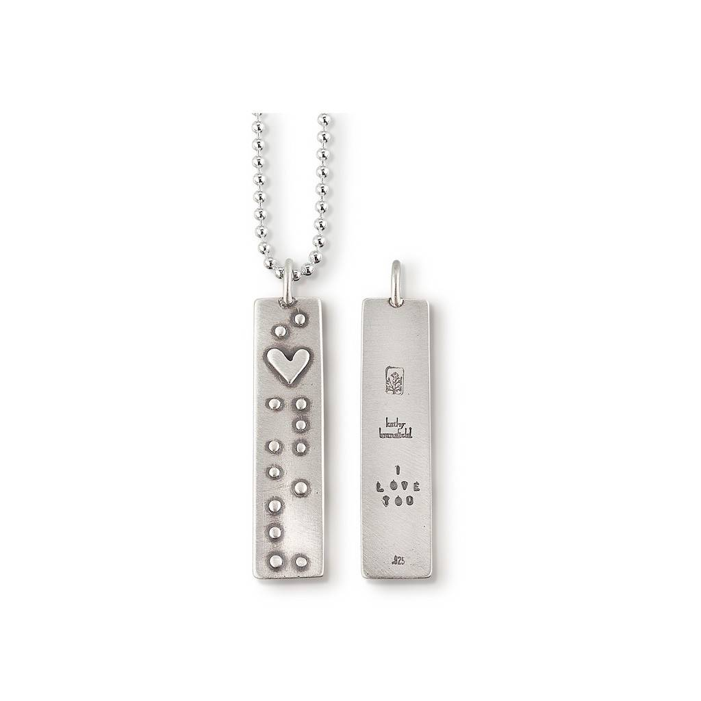 "Braille I Love You 18"" Necklace"