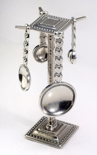 Heart Spoons w/Pewter Post