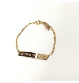 Lat Lo Chain Bar Bracelet 14K GF