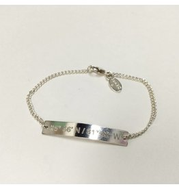 Lat Lo Chain Bar Bracelet SS