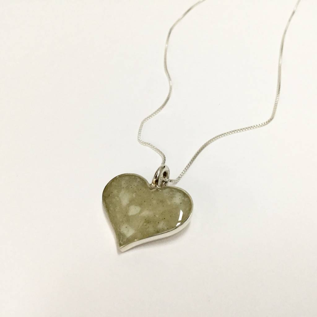 Marco Island Heart of Sand Necklace SS 18""